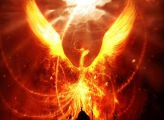 Le phénix, symbole de l'immortalité, en lien avec la pierre philosophale