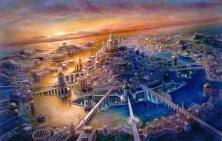 L'Atlantide, la cité d'Atlas fondée par son père Poséidon
