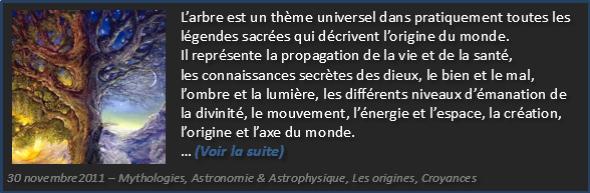 Le mythe universel de l'arbre - L'Axe du monde - Olivier Fargin
