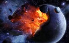 Quel évènement a pu causer l'explosion d'une planète beaucoup plus grosse que vénus ?