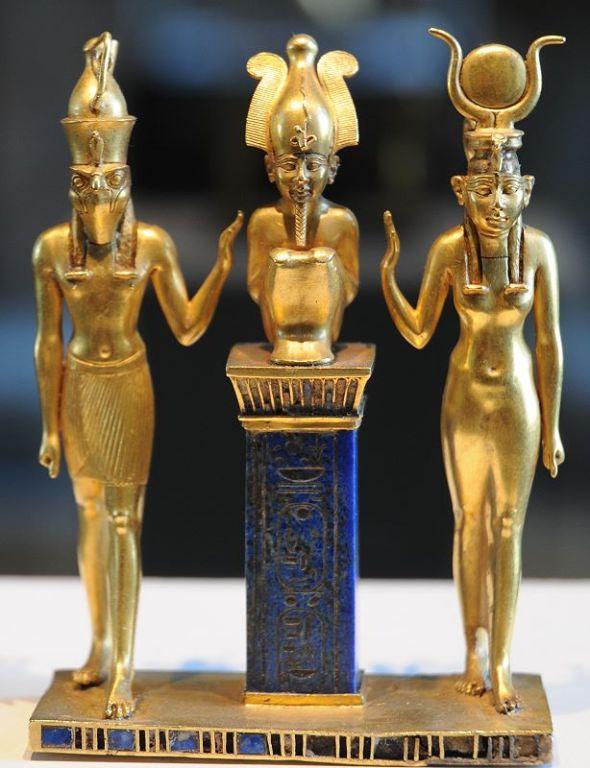 Osiris entouré d'Isis et d'Horus