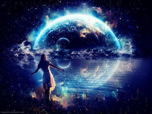 woman-universe-blue